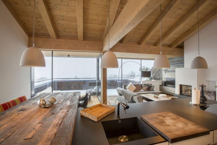 Ferienwohnung Kitzbüheler Alpen Ausblick