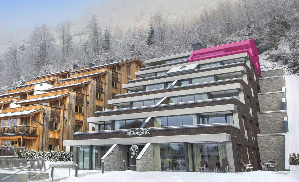Ferienwohnung Kitzbüheler Alpen Außenansicht Markierung