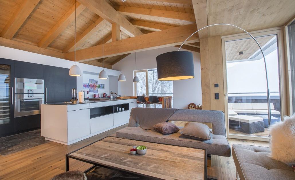 Ferienwohnung Kitzbüheler Alpen Küchenzeile