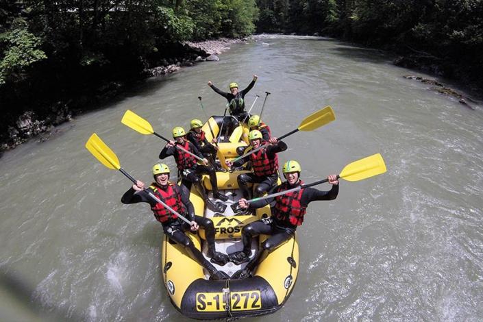 Ferienwohnung Kitzbüheler Alpen Rafting Fahrer