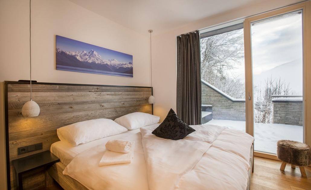 Ferienwohnung Kitzbüheler Alpen Schlafzimmer Ausblick