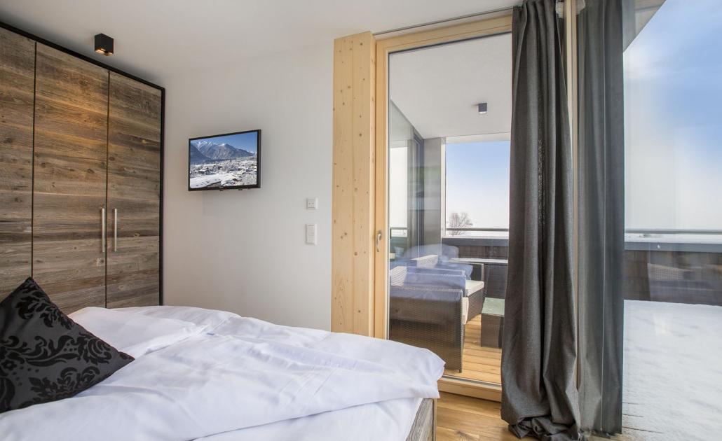 Ferienwohnung Kitzbüheler Alpen Schlafzimmer Balkon