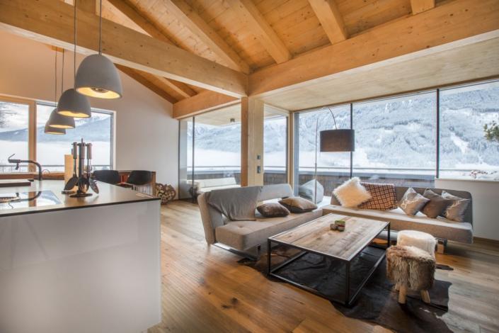 Ferienwohnung Kitzbüheler Alpen Wohnen und Küche