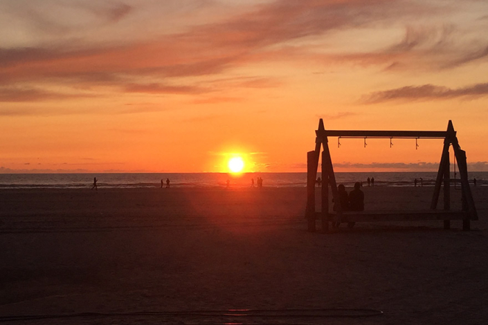 Mühlen Kate Sonnenuntergang