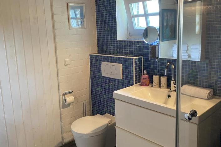 Ferienwohnung Urlaubsmühle Fortuna WC-Bereich