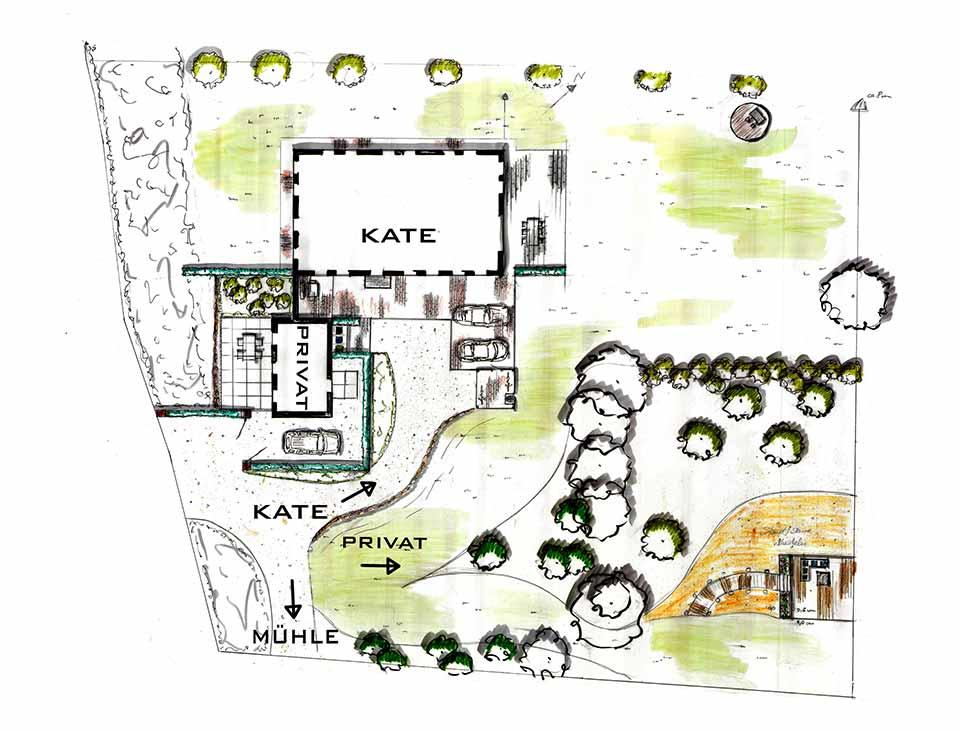 Lageplan Mühlen Kate
